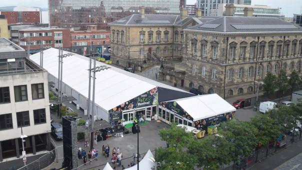Watch Timelapse of Tesco Taste tent buzzing in Belfast & Watch: Timelapse of Tesco Taste tent buzzing in Belfast ...